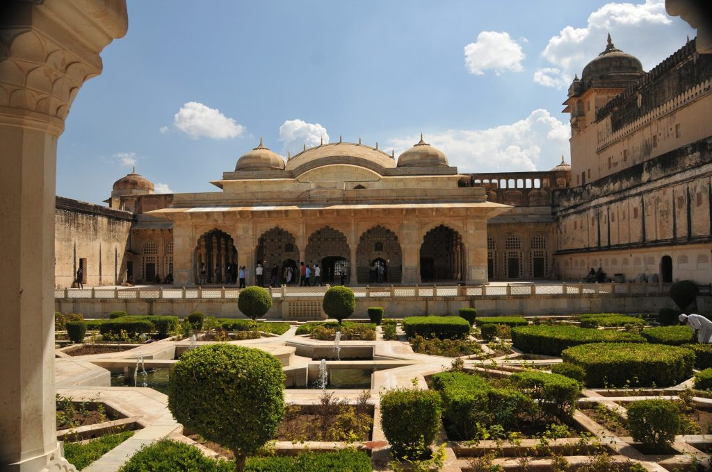 The insides of the Fort of Jaipur
