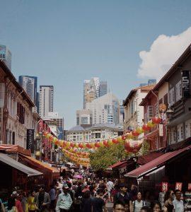 Shopping Street in Singapore