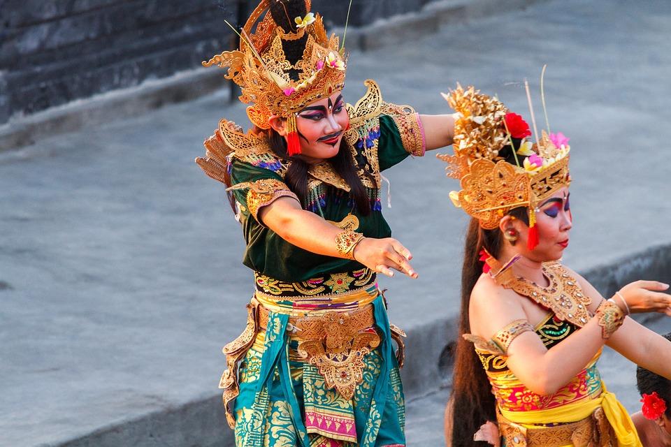 An artist in Kecak Dance