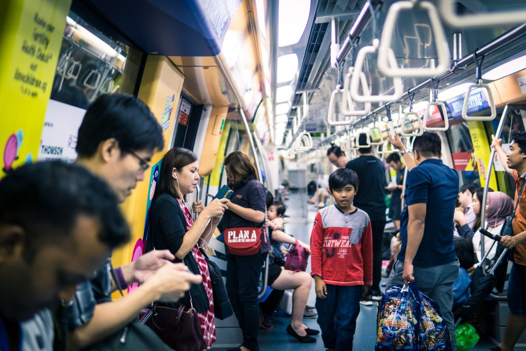 MRT in Singapore to travel on a budget