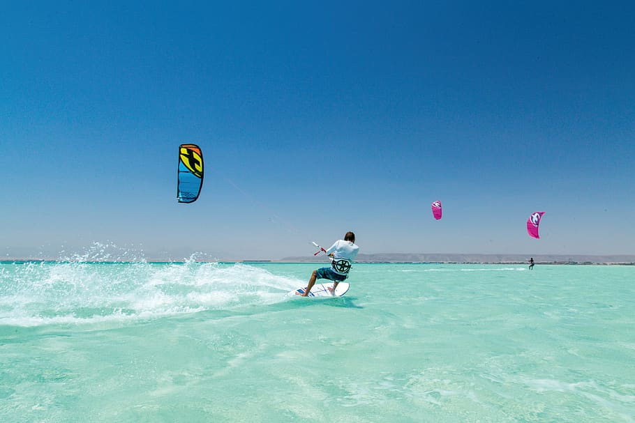 Wind Surfing at the East Coast Park