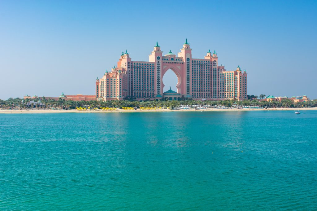 View of Atlantis The Palm from the pointe - Dubai - United Arab Emirates