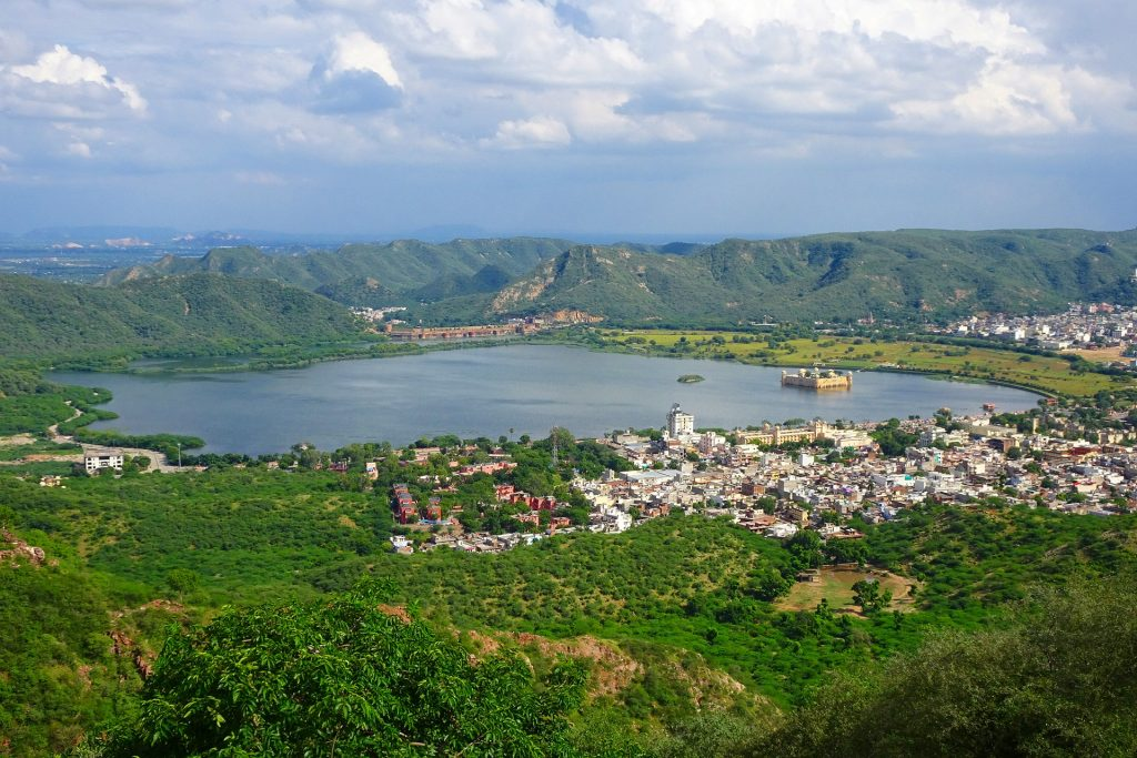 Bird view of Mansagar Lake in Rajasthan