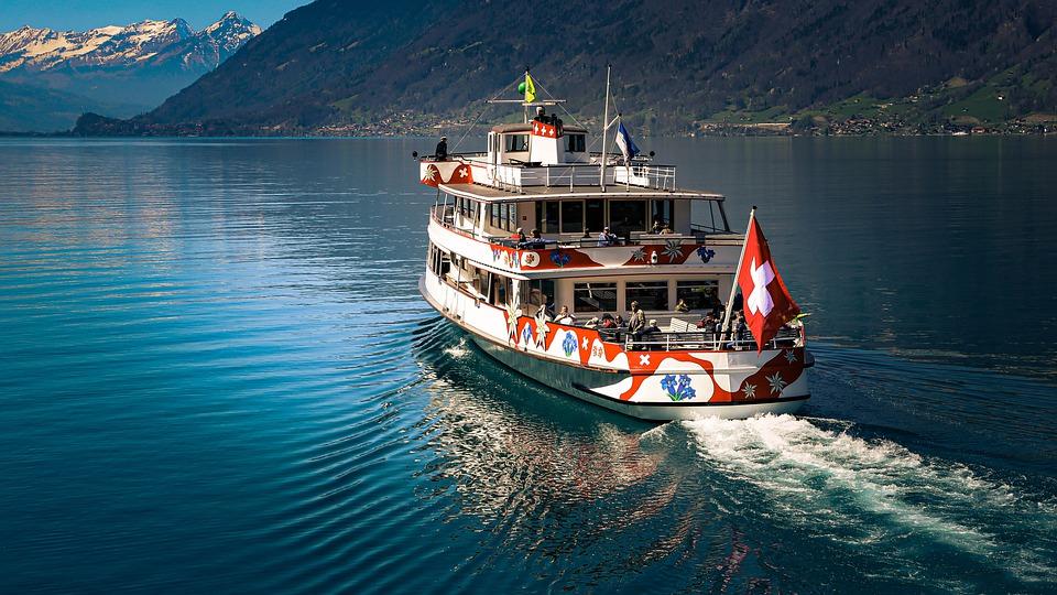 Boating on Swiss Lake