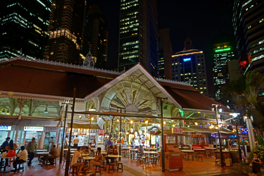 One of the stalls in Lau Pa Sat