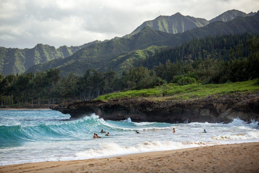 Northern beaches in Hawaii