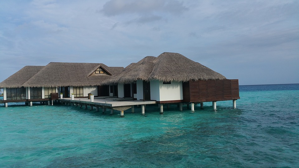 Water Bungalows in Maldives