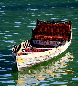 A view of boat in the Nainital lake, Nainital