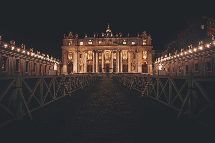 Vatican City in the night