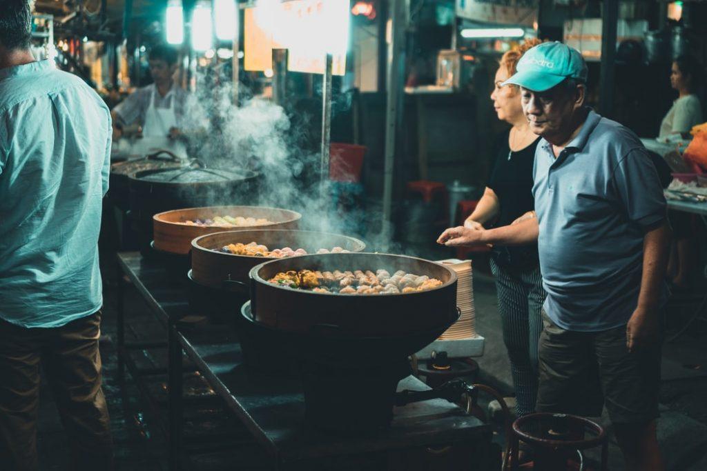 food stall at china town