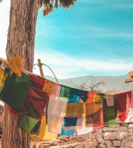 A place of monks in Bhutan