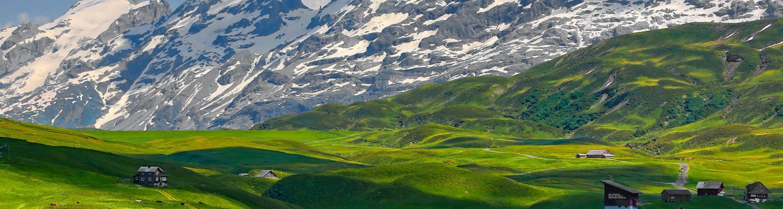 Beautiful town in Switzerland