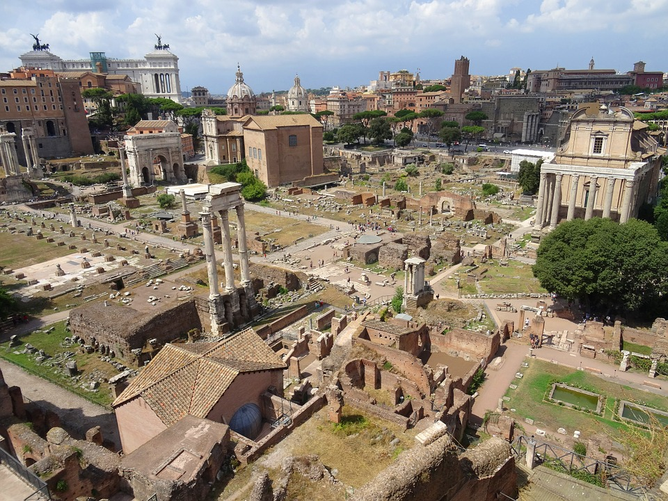 Aerial View of the Roman Forum