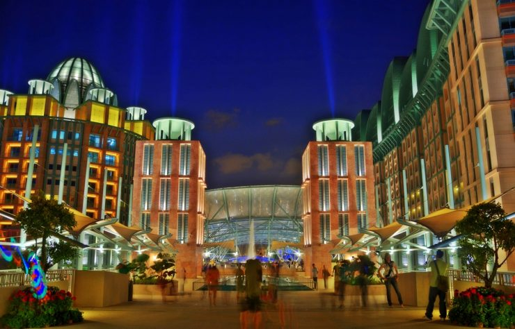 Resorts World Sentosa during Night