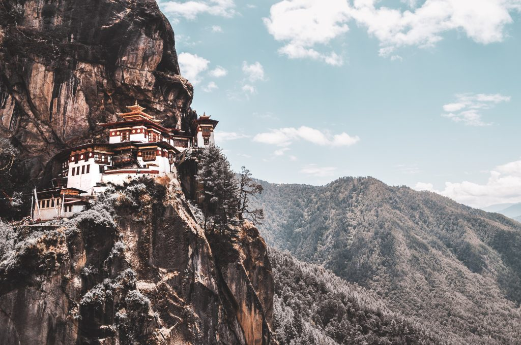 Amazing view of Paro taktsang in Bhutan