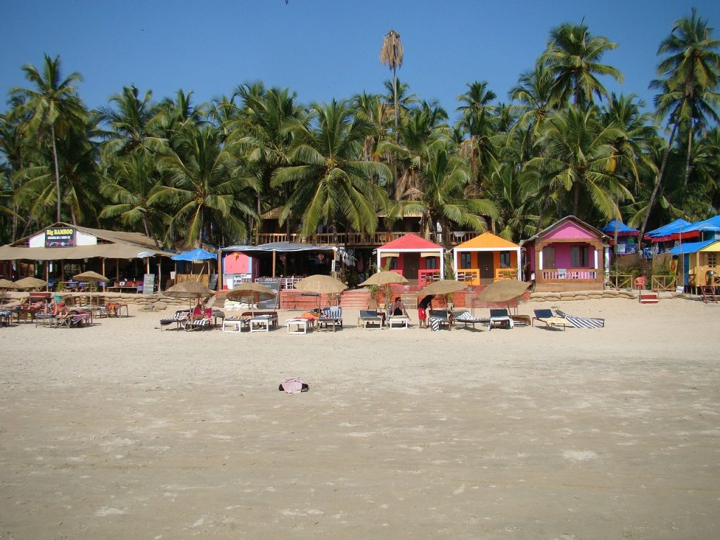 Shacks in the Goa Beach