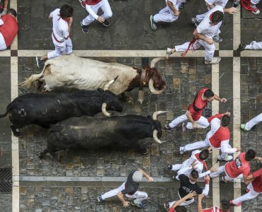 San Fermin- bull racing in Pamplona