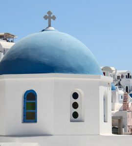 Santorini Oia Church View