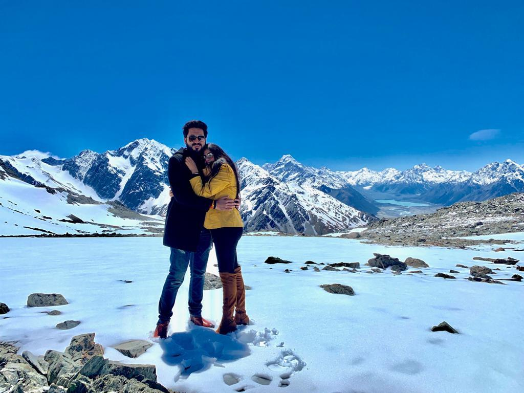 With my wife at glacier view