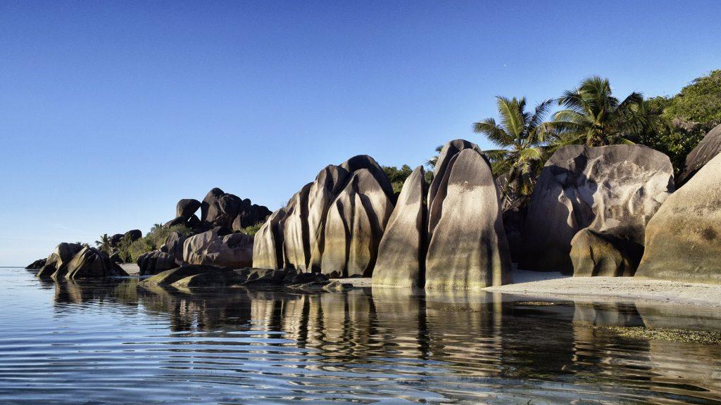 Seychelles Boulders on beach