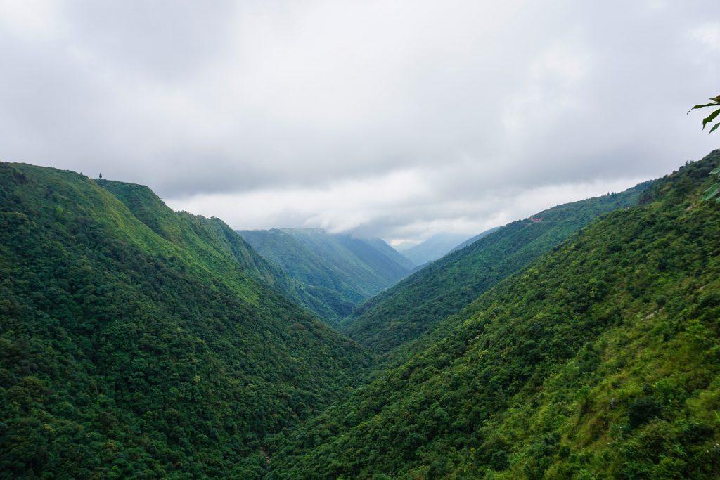 The hills in Cherrapunji, India