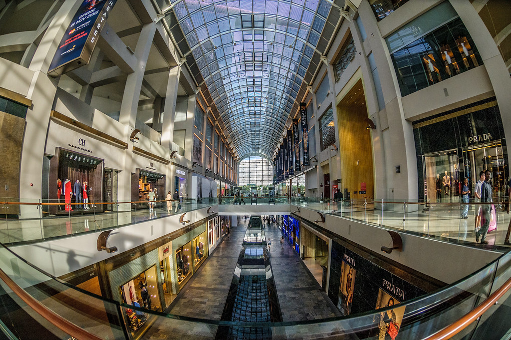 the shoppes mall in the marina bay sands