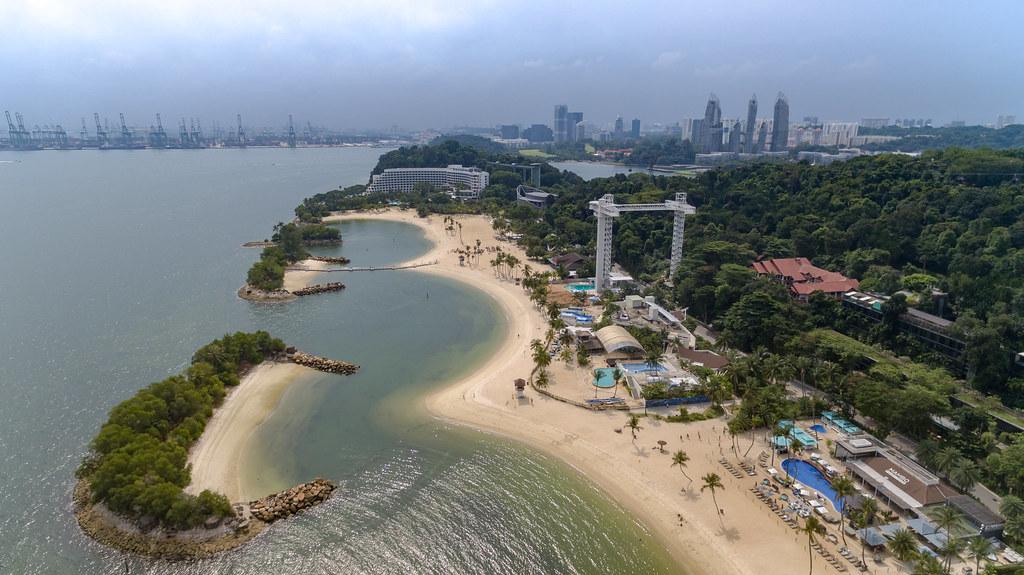 Drone view of Siloso beach