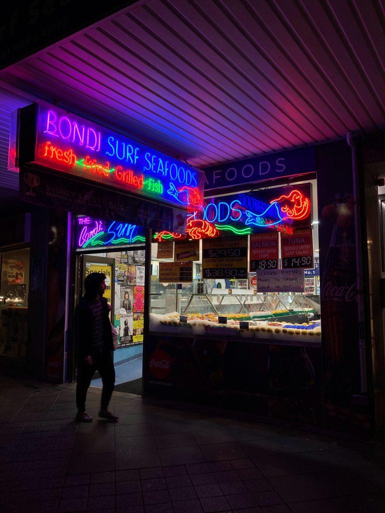 Restaurants at Bondi beach