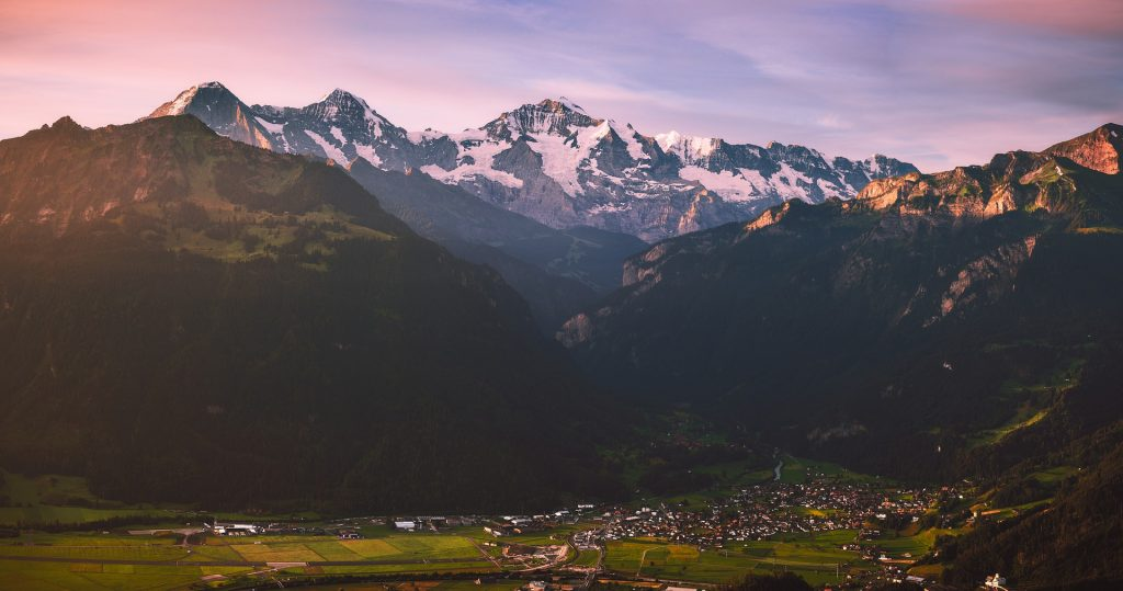 March Sunrise in Interlaken