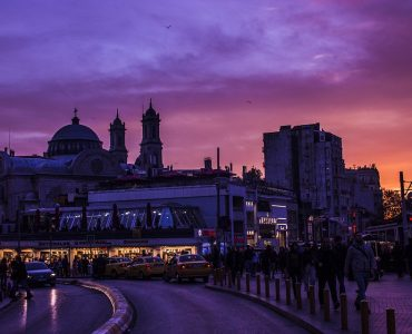 taksim square in the night