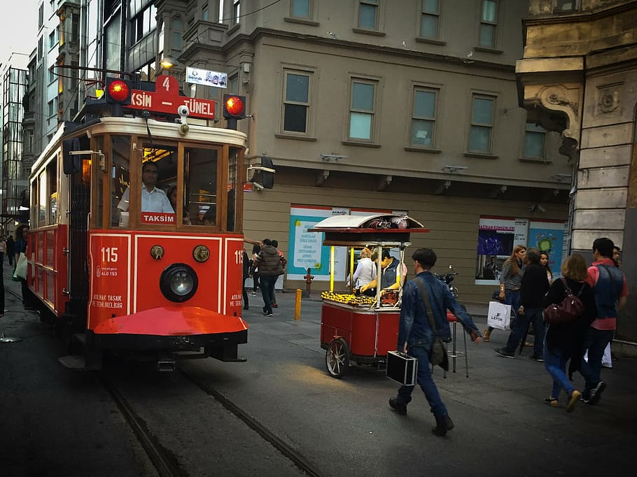 the oldest tram system in Taksim