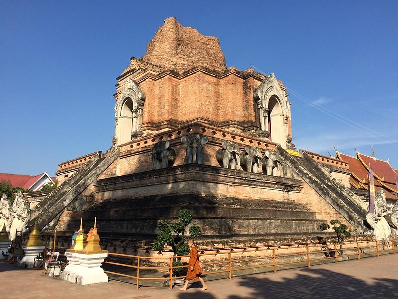 Wat Chedi Luang In Chiang Mai, Thailand