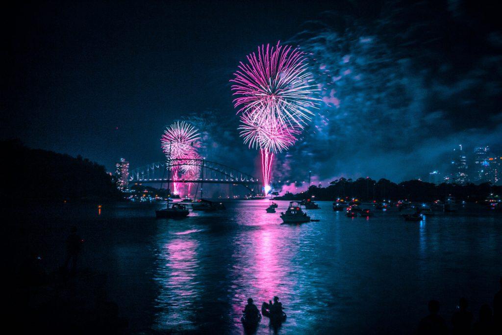 New Year's eve at Sydney  Cockatoo Island Sydney