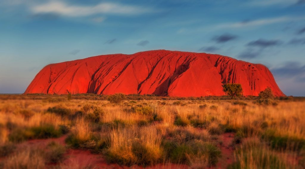 The Uluru (red centre) of Australia. (West MacDonnell Ranges)