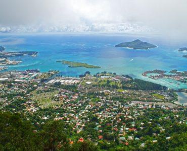 Top view of Seychells