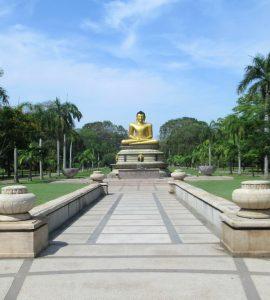 pathway to the Buddha statue