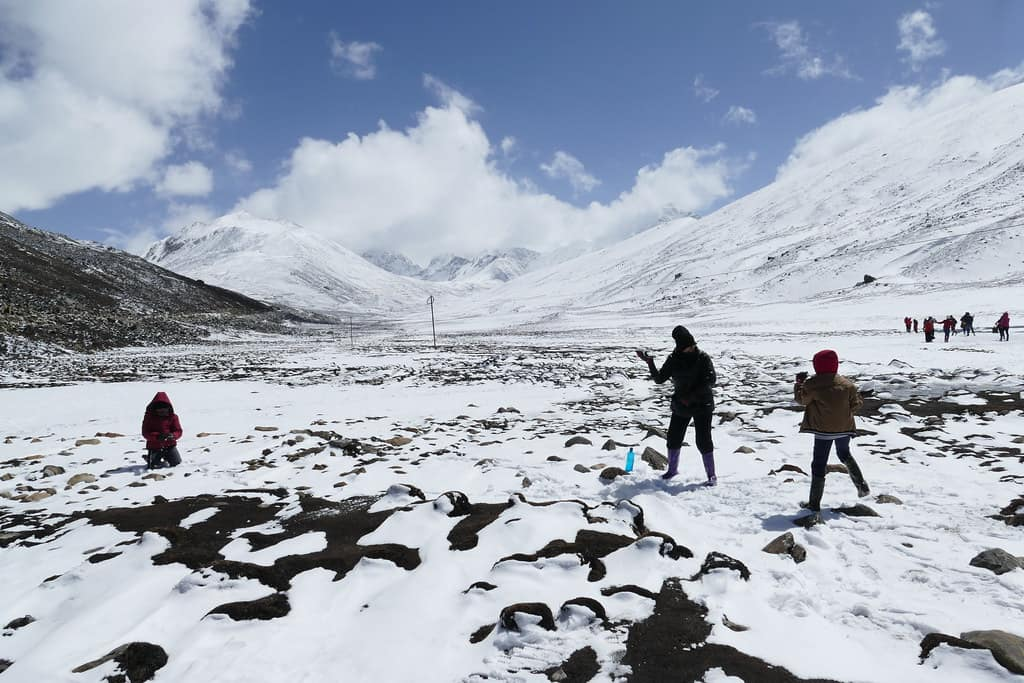Zero point, one of the must visit places in Sikkim.