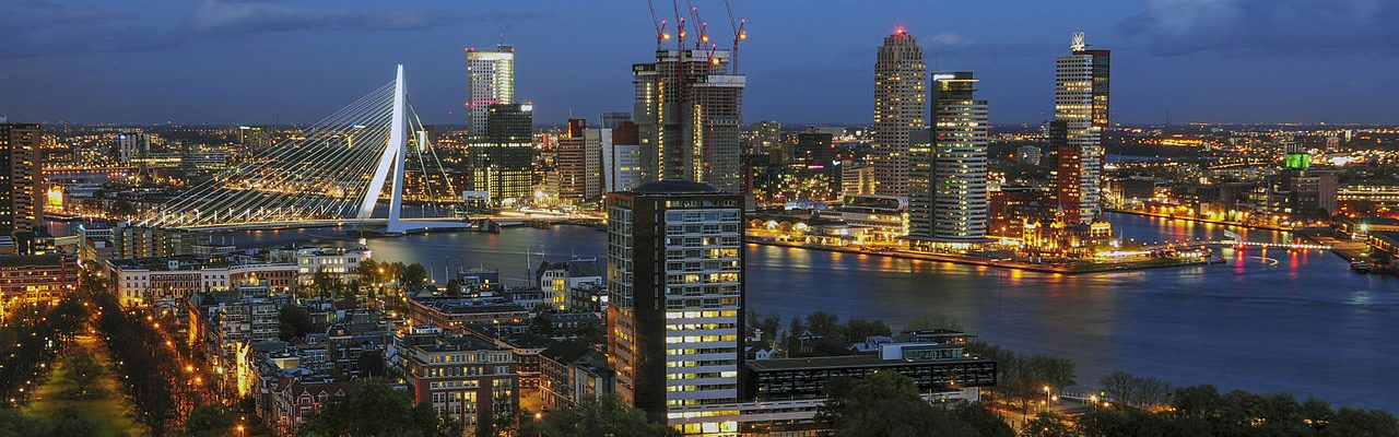 Night life in one of the top attractions of Rotterdam