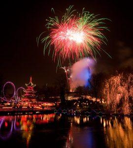 Fireworks in Tivoli, Italy