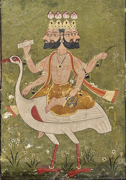 Painting of Lord Brahma