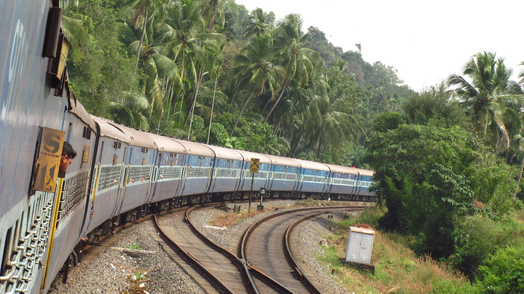 Train through Kerala