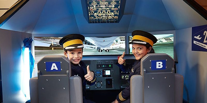 Kids as Pilots in Kidzania, Kuala Lumpur