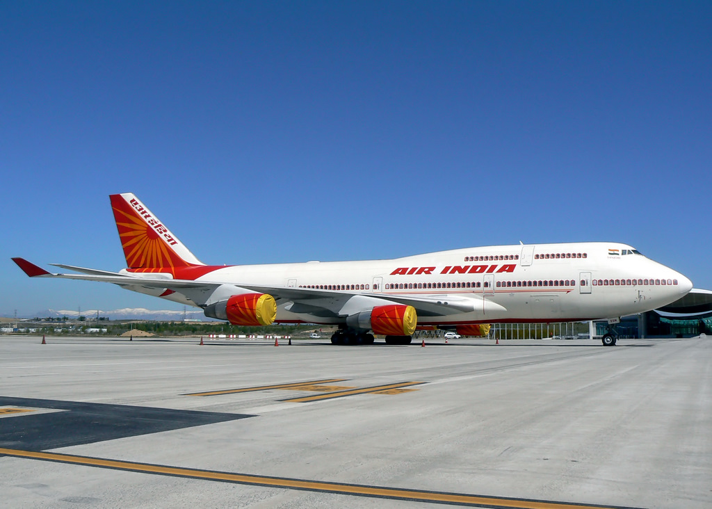 An Air India flight, one of the international flights, that has started its operation