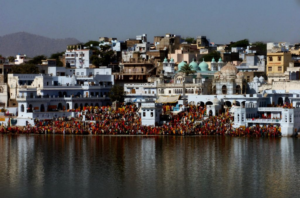 The pilgrims at the Brahma Temple in Pushkar