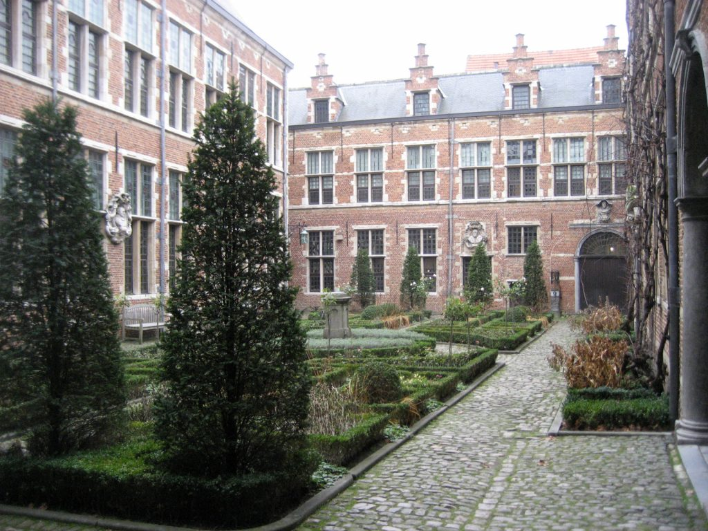 Garden of the Museum Plantin-Moretus, Antwerp.