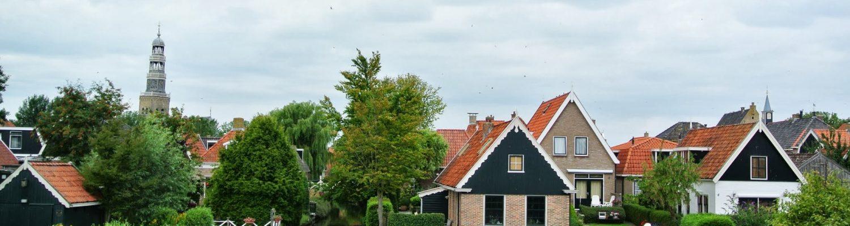 Panaromic view of City of Hindeloopen
