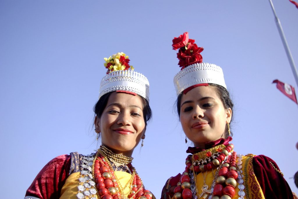 Khasi girls, nongrem festive attire