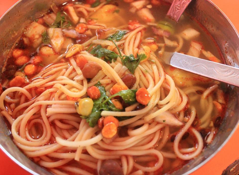 Thukpa, The noodle soup street food in Bhutan