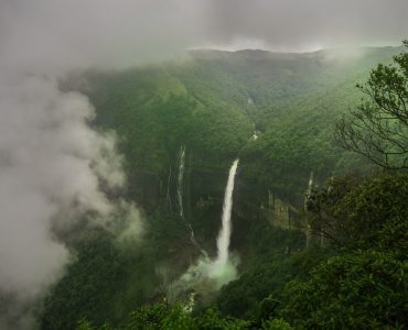 The Majestic Nohkalikai Waterfalls in Cherrapunji