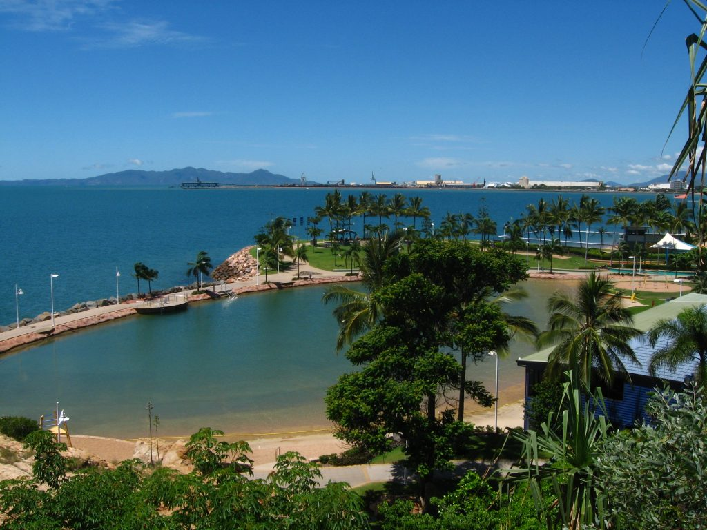 Rock pool in the Strand, one of most beautiful attraction of Townsville.